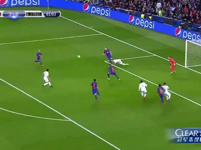 [视频]奇迹!95分钟绝杀 巴萨6-1巴黎惊天逆转
