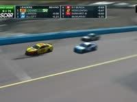 纳斯卡500大奖赛 拉尔森精彩三连超
