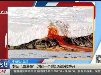 """[视频]神奇的大自然:南极""""血瀑布""""谜团一个世纪后终被解开"""