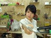 妹子动手能力10000+,用灭火器铸出一把斧子