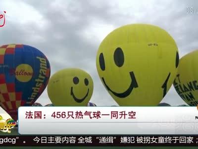 [视频]法国:456只热气球一同升空