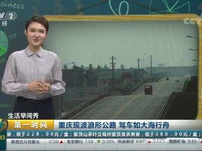 [视频]重庆现波浪形公路 驾车如大海行舟