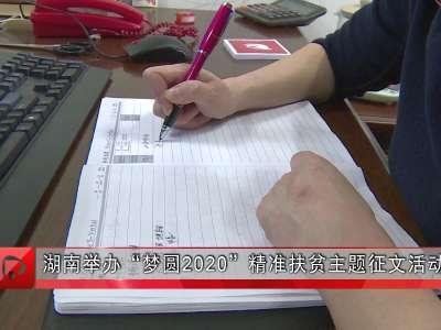 """湖南举办""""梦圆2020""""精准扶贫主题征文活动"""