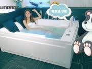 尚雷仕亚克力智能恒温情侣按摩浴缸,精巧防水TV视听,梦幻香薰双旋冲浪按摩,蓝牙音乐