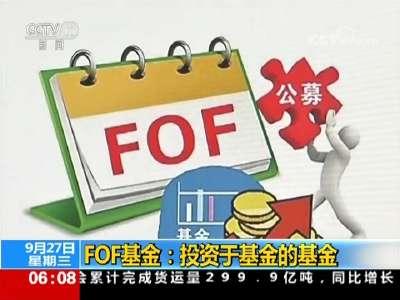 [视频]证监会:首批FOF基金节前发行