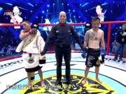 《武林笼中对》20171201:中国选手泽朗扎西TKO日本选手