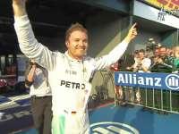F1澳大利亚站正赛 罗斯伯格赛季首冠难掩激动之情