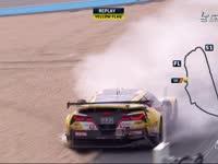 勒芒24小时耐力赛:50号赛车冲入砂石缓冲区
