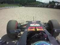 F1奥地利站FP1:里卡多冲入砂石区