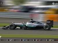 F1英国站正赛冲线时刻:汉密尔顿pole to win!