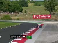 F1匈牙利站FP2:哈尔延托驶出赛道