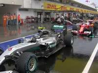 雨要停啦!F1匈牙利站排位赛Q1:八分钟后雨停