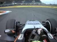 F1德国站FP1:佩雷兹轮胎锁死冲出赛道