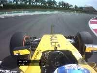 F1马来西亚站FP1 帕默尔轧路肩太多直接切过弯角