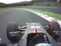 F1日本站正赛:里卡多超越雷诺后走大出赛道