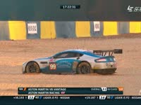 勒芒24小时耐力赛:99号赛车失控冲进沙石