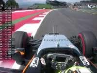 F1奥地利站FP3:佩雷兹左前轮磨损冲出赛道