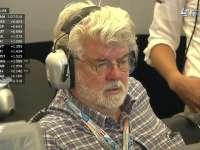 F1奥地利站排位赛 星战制作人乔治卢卡斯现身梅奔P房
