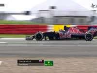 F1英国站FP2 科维亚特底盘蹭出火花