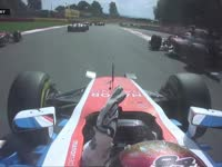 F1比利时站正赛:维尔莱茵发车撞退巴顿