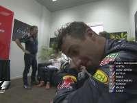 F1马来西亚站正赛:里卡多赛后泪水与汗水交融