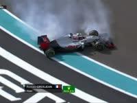 F1阿布扎比站FP1 格罗斯让滑出赛道险些撞墙