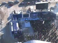 WRC瑞典站SS18颁奖仪式 拉特瓦拉露久违笑容