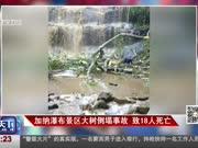 加纳瀑布景区大树倒塌事故 致18人死亡