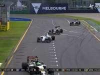 F1澳大利亚站正赛 维斯塔潘欲超队友不成反失误
