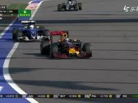 F1俄罗斯站正赛 里卡多超越埃里克森