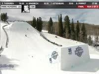 阿斯彭极限运动会 滑雪空中技巧冠军靠三周转体一举夺魁