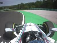 F1匈牙利站FP1:博塔斯失误冲出赛道