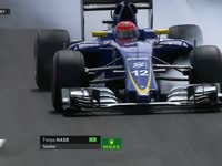F1匈牙利站FP1:纳斯尔失误轮胎抱死