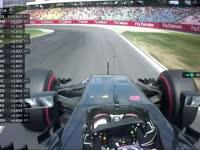 好离奇!F1德国站FP1:巴顿报告刹车问题