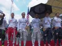 F1马来西亚站正赛:赛前奏国歌仪式