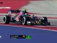 F1美国站FP3:塞恩斯右后轮爆胎艰难驶回维修区