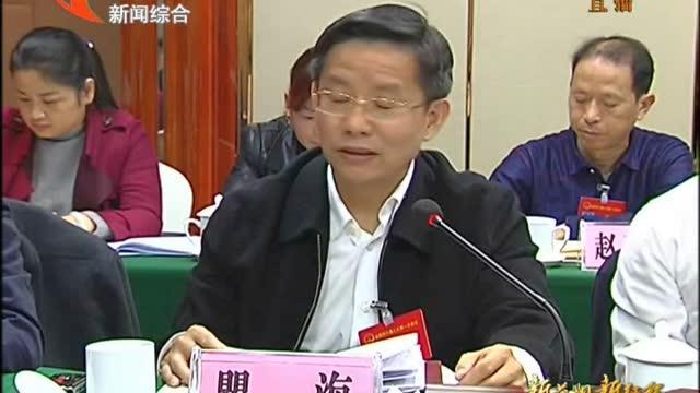 瞿海参加南县、桃江代表团讨论