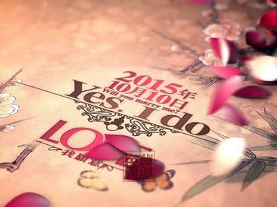 《游园花间》中国风 婚礼片头 古风 中式婚礼 花瓣飞舞