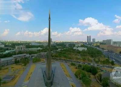 航拍俄罗斯征服者纪念碑记录