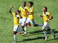夸德拉多助阿尔梅罗破门 哥伦比亚1-0先发制人