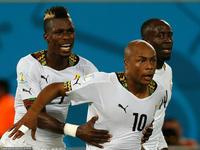 加纳精妙配合阿尤射门得分 加纳1-1扳平比分