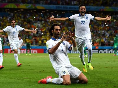 全场回放-希腊2-1科特迪瓦 萨马拉斯点球绝杀希腊晋级