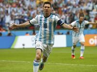 阿根廷3-2尼日利亚 梅西穆萨各进2球
