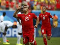 沙奇里上演帽子戏法 瑞士3-0领先洪都拉斯