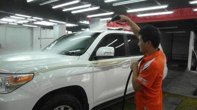 三种洗车方式实验调查 带辐射的荧光钥匙扣