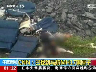 [视频]CNN称马航MH17坠毁客机黑匣子已找到