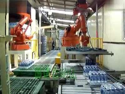 广州国诺:矿泉水机械手码垛机