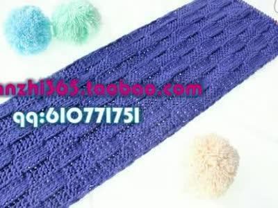 手工编织围巾视频花样方法教程