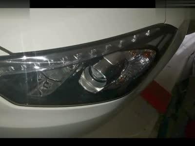 起亚k3改q5透镜大灯升级组团来的改灯兰州f1汽车照明