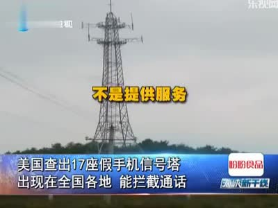 美国查出17座假手机信号塔出现在全国各地